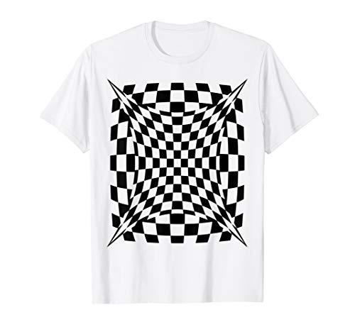 OP ART Checkered Abstract Design Cool T Shirt for Everyone