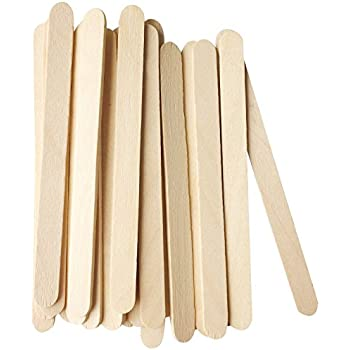 Korlon 200 Pcs Craft Sticks Ice Cream Wooden Popsicle 4 1 2