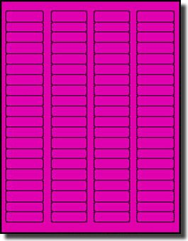 8000 Label Outfitters Fluorescent Neon Magenta Pink Color LASER ONLY Labels 100 Sheets 175