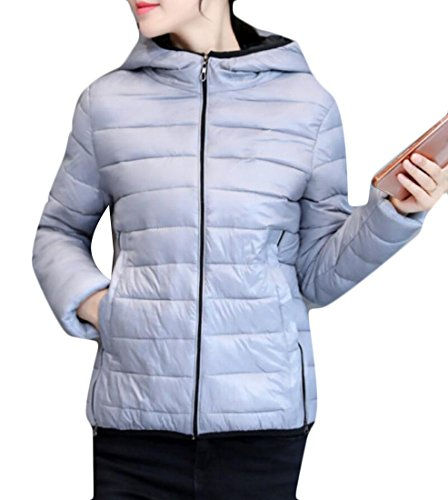 Packable Winter Women's amp;S M Hoodies Down Light Puffer Jackets Gery amp;W taqBII4nf