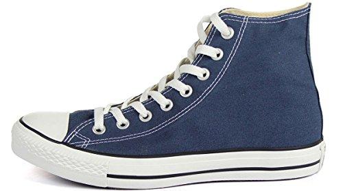 Converse All Star Hi Canvas Hi-Top Turnschuhe Damen Marineblau Athletisch Schuhe 38