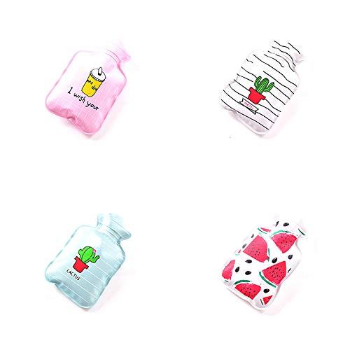 Doitsa 1x Petite Bouillotte Chaufferette Douce Simple et Mignon Mini Hot Water Bottle pour Gar/çon Fille Rayures Cactus