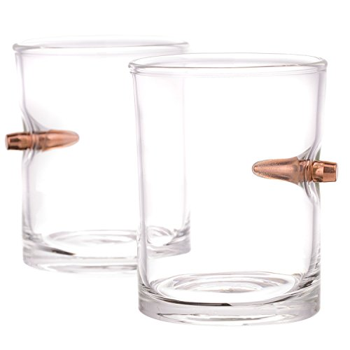 .308 Real Bullet HandblownWhiskey Glass- Set of 2