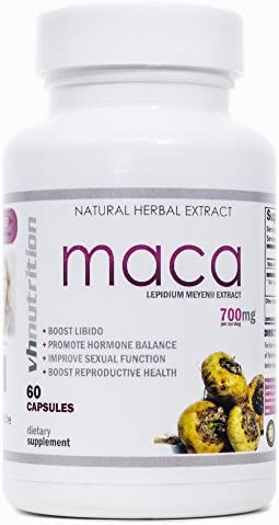 Maca Root Capsules Female Libido Supplement Sexual Enhancement for Women to Boost Sex Drive 30 Day Supply 700mg of Ultra Potent Lepidium meyenii Per Serving