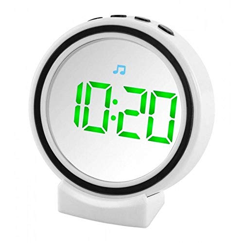 FineLife Portable Wireless Speaker Vanity Makeup Mirror LED Alarm Clock