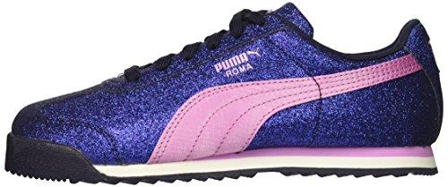PUMA Unisex-Kids Roma Glamour Sneaker, Peacoat-Orchid, 5 M US Big Kid by PUMA (Image #5)