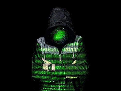 Laminated Poster: Deep Web Dark Web Darkness Binary Code Null One Dark Hood Ghost