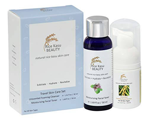 Rice Kasu Beauty Travel Skin Care Set, Rose Geranium, 2.71 Fluid Ounce from Rice Kasu Beauty
