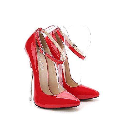 La Rouge Chaussures Pointu À Talons Gheel Hauts De Aiguilles Femmes Fermé Mode Mariage Sexy xX5qSBOBw