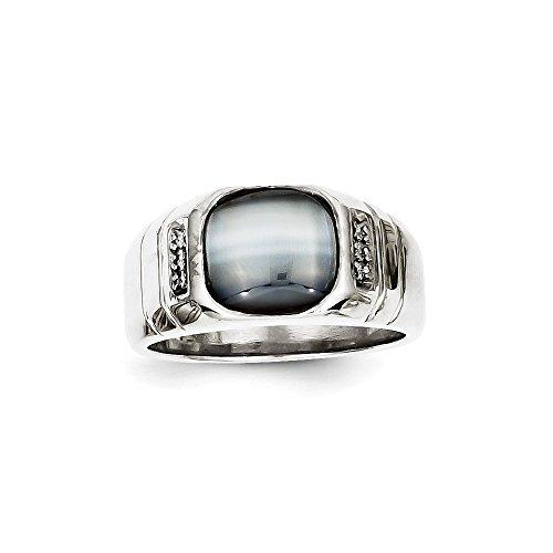 Roy Rose Jewelry 10K White Gold Diamond  - Cat Eye 10k Ring Shopping Results