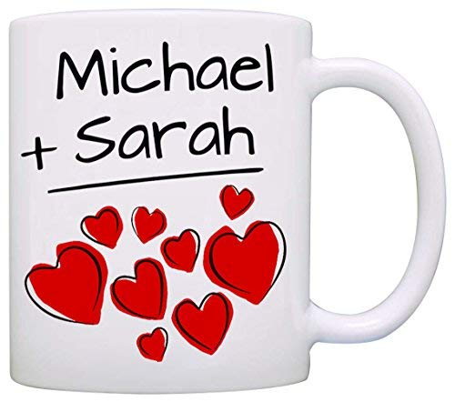 Personalized! His and Her Couples Wedding Gift Mug, I love my Husband Wife Mom and Dad Romantic Coffee Cup, Printed on Both Sides!