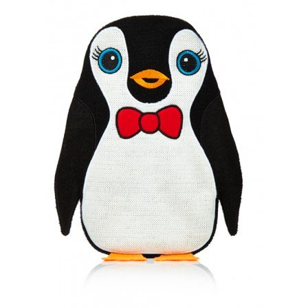 Hot Chick Bow Tie Penguin Knitted Cover Hot Water Bottle