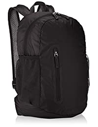 Amazon Basics Mochila Plegable, Ligera, Negro, 35L