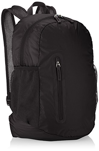 (AmazonBasics Lightweight Packable Hiking Travel Day Pack Backpack - 17.5 x 17.5 x 11.5 Inches, 25 Liter, Black)