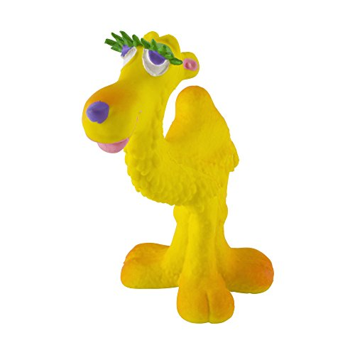 Small Camel Dog Toys. 100% Natural Rubber/Latex. Lead-Free and Chemical-Free. Complies to Same Safety Standards as Kids