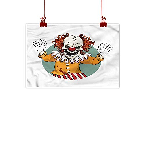 Mangooly Wall Art Painting Print Scary,Face Expression Horror Clown 28