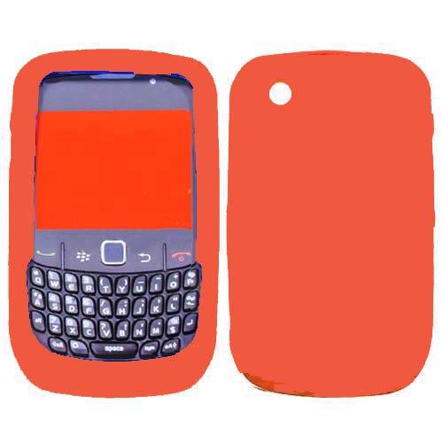 Soft Silicone Skin Case(Orange) For RIM BLACKBERRY 8520(Curve), 8530(Curve), 9300(Curve 3G), 9330(Curve 3G) (Orange Blackberry Faceplates)
