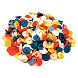 Flat Golf Ball Markers 25 ct Assorted Colours Plastic by Charter