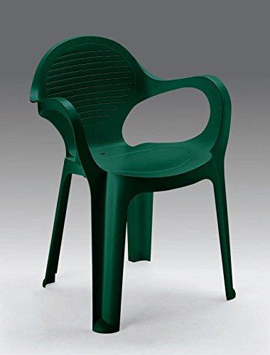 Sedie Da Giardino In Plastica Verdi.Grand Soleil Poltrona Sedia Verde Ole In Plastica Da