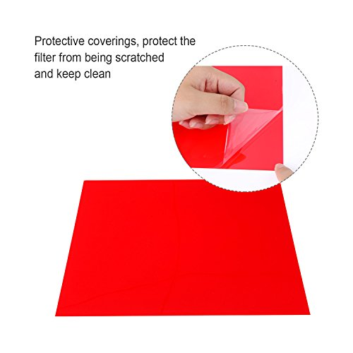 eBoot 18 Pieces Correction Gel Light Filter Transparent Color Lighting Film Plastic Sheets, 11.7 by 8.3 Inches, 9 Colors