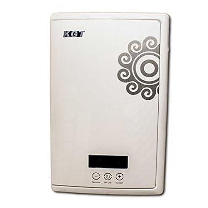 Calentador de agua instantáneo (12 kW KGT ajuste táctil ducha, lava manos, bañera