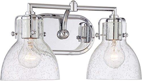 (Minka Lavery Wall Light Fixtures 5722-77 Wall Bath Vanity Lighting, 2-Light 200 Watts, Chrome)