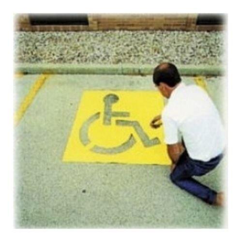 Large Light Duty Parking Lot Handicap Stencil