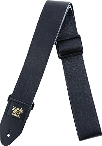 (Ernie Ball Tri-Glide Black Leather Strap)