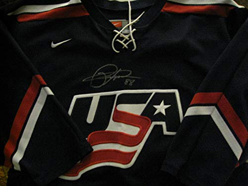 (Patrick Kane Autographed/Signed Team USA Sewn Hockey Jersey)