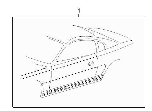 Genuine Ford 7R3Z-6320001-RA Stripe Decal