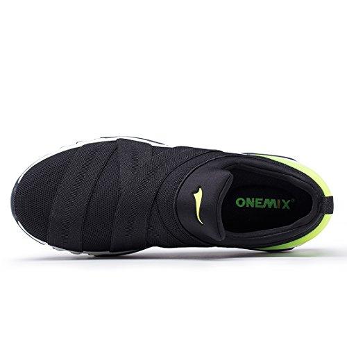 Onemix Mens Womens Air Mesh Sneakers Casual Scarpe Sportive Unisex Scarpe Da Corsa Nero / Verde