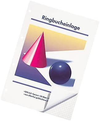 Ringbucheinlagen Kugel und Kegel A5 kariert 50 Blatt VE 10 St/ück