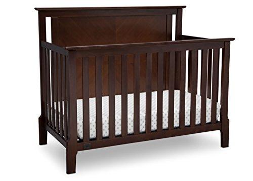 Cheap Serta Mid Century Modern Lifestyle 4-in-1 Convertible Baby Crib, Walnut Espresso