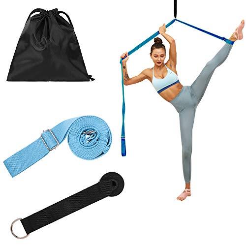 sisn Adjustable Leg Stretcher Band, Ballet Dance Lacing Bands Yoga Belt Sports Fitness Band for Leg Stretcher…
