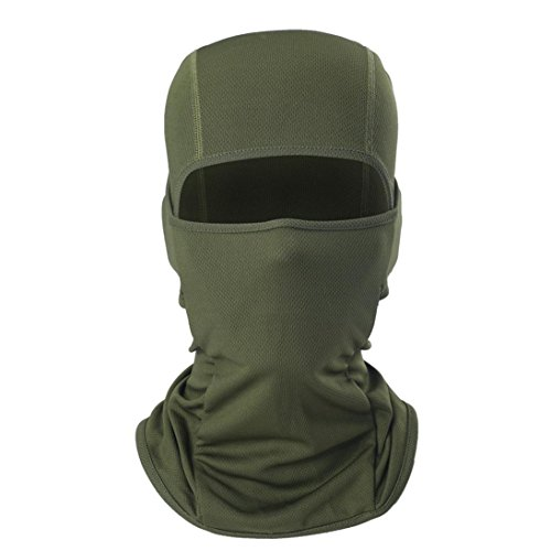 - Outdoor Sports Headgear Warm Scarf Quick-drying Fabric Hat Tactical Mask Vibola (Army Green)