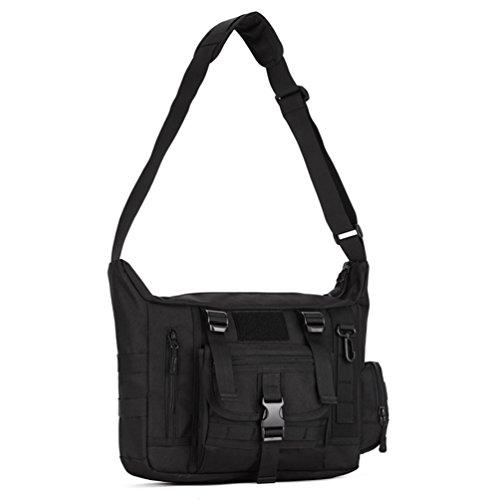 Computer Field Bag - Protector Plus Messenger Shoulder Bag Crossbody Bags Belt Sling Bags Laptop Satchel Packs for Working Cycling Hunting Camping Trekking (Black)