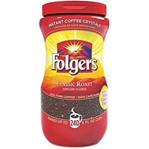 Folgers Classic Roast Instant Coffee Crystals - 16 Oz (Pack of 2) by J.M. SMUCKER CO.