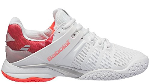 Babolat Propulse Fury All Court Women's Tennis Shoe,White/Pink (6.5) by Babolat