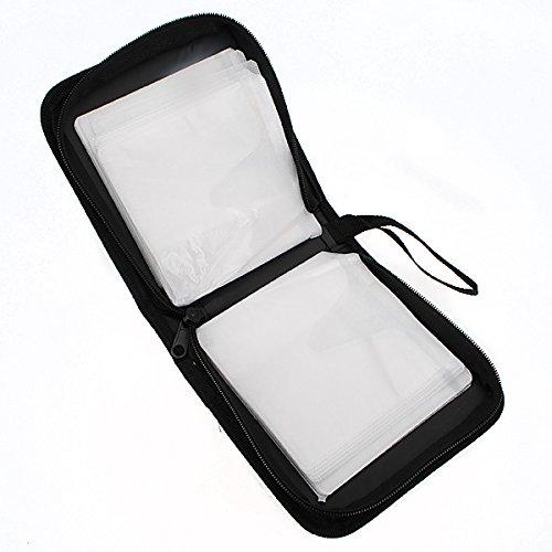 QOJA 40 disc cd dvd holder disc organizer wallet bag album black