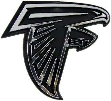NFL Atlanta Falcons Chrome Car Emblem