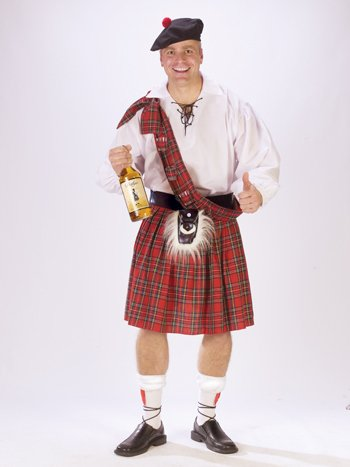 Highlander Fancy Dress Costumes - Big Shot Scot Adult Costume -