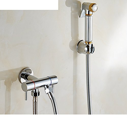 high-quality Turbo toilet spray/One into two solid brass angle valve/ bidet nozzle-A