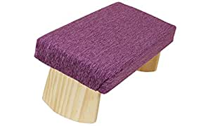 Joy Is Within You Fixed Legs Meditation Bench Premium Ultra-Light 3 Sizes Many Colors Made in USA (Amethyst 2, Small)
