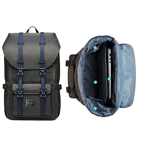 212ec0d559560 KAUKKO Rucksack Studenten Backpack 17 Zoll für 15 Notebook L Kblack  Sporttaschen   Rucksäcke