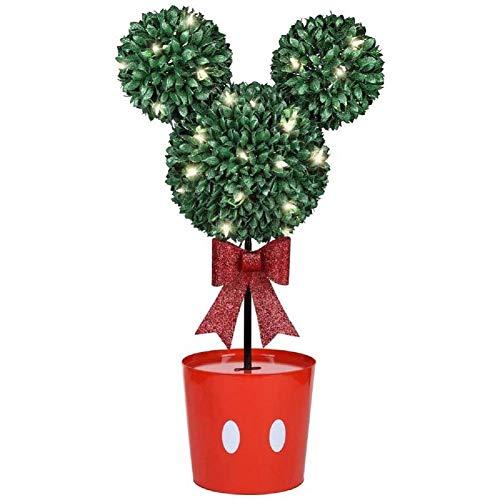 Christmas Topiary Tree - Gemmy Disney Mickey Mouse LED Topiary Tree Christmas Decoration, White