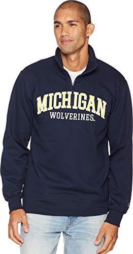 - Champion College Men's Michigan Wolverines Powerblend¿ 1/4 Zip Navy Large