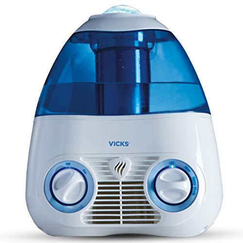 Vicks Starry Night Filtered Cool Mist Humidifier, Medium to Large Rooms, 1 Gallon Tank – Cool Mist Humidifier for Baby…