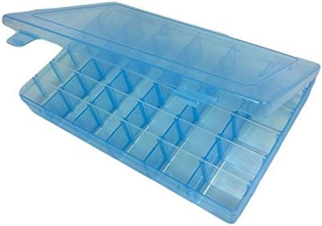 Frcolor Joyería Organizador Contenedor Caja de Almacenamiento de Plástico con Ajustable 36 Grids: Amazon.es: Hogar