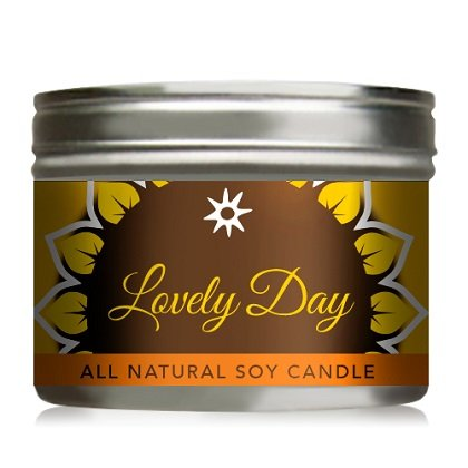 All-Natural Soy Candle Lovely Day In Tin - 10 oz - 6 Pack