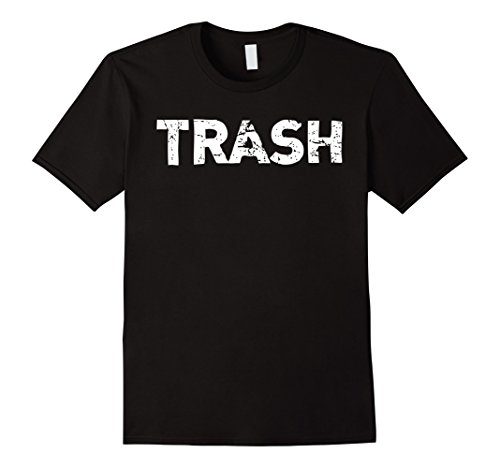Cute White Trash Costume Ideas (Mens White Trash Funny Halloween T-Shirt XL Black)